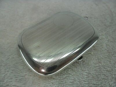 Solid Silver c1920 Combination Sovereign Case Pill Box and Mirror