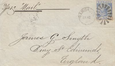 Barbados: 1891: letter to England