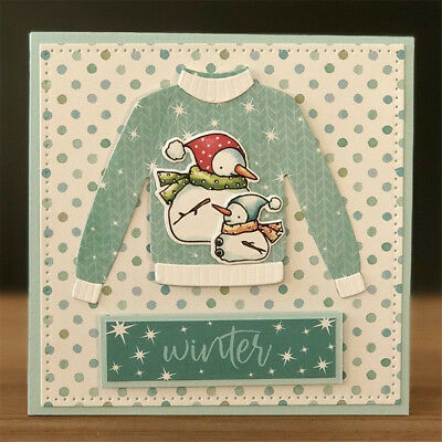 Christmas Clothes Metal Cutting Dies Scrapbook Album Paper Card Embossing IW