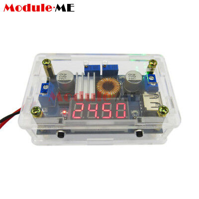 5A CC/CV W USB Voltmeter LED Drive Step down Lithium charger Power Module + Case