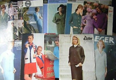 10 Vintage Knitting patterns, Ladies Clothes - Suits / Dress