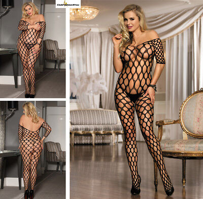Catsuit Dessous Netz Body Fishnet Reizwäsche Body Stocking | Xs-L |H3015-Hh