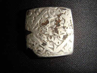 India Mughal Empire Akbar Square Coin Brooch Very Old 1600