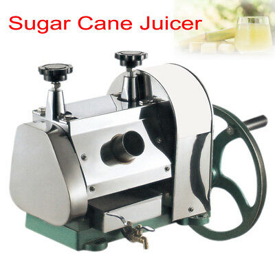 Commercial Manual Sugarcane Sugar Cane Juicer Extractor Squeezer Stanless 50kg/h