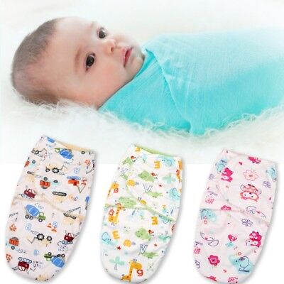 Baby Swaddle Wrap Newborn Infant Bedding Blanket Cotton Sleeping Bag Warm Wrap
