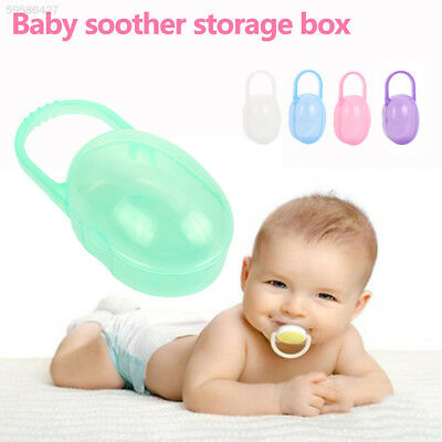 ED7C Cases Soother Baby'S Pacifier Box Lovely PU 5 Colors Container Holder