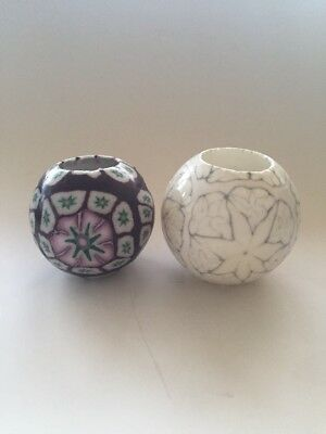NEW Flame Candle Bohemian Hipppy Ball Round Circle Candle Glow Lot of Two VTG