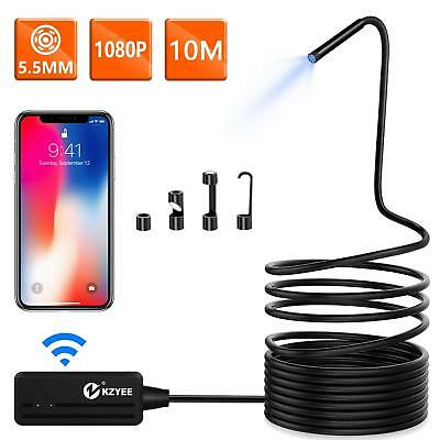 Kzyee 5.5mm WIFI Borescope Inspection Camera Wireless Endoscope For IOS Android