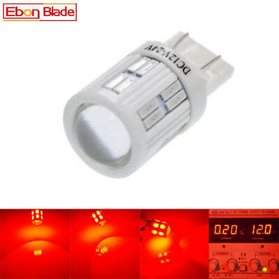 2 x 28 SMD 7443 T20 W21/5W Auto Ceramic LED Tail Brake Stop Light Bulb Lamp RED