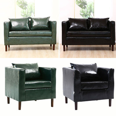 Soft PU Leather Armchair 1/2 Seater Lounge Sofa Chair for Reception Living Room