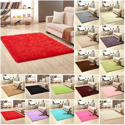 Super Fluffy Rug Soft Long Plush Bedside Silky Anti-Skid Mat Carpet Rugs Area