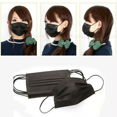 50X Black Unisex Women Men Mouth Face Mask Respirator For Cycling Anti-Dust