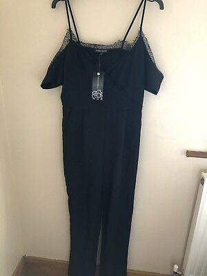 888fad3b56 BNWT NEW LOOK Cameo Rose Black 2 in 1 Lace Playsuit Size 18 - £12.00 ...