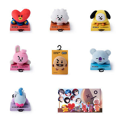 Official BT21 Lying Plush Doll Hair Pin Clip KPOP Bangtan Boys BTS Goods
