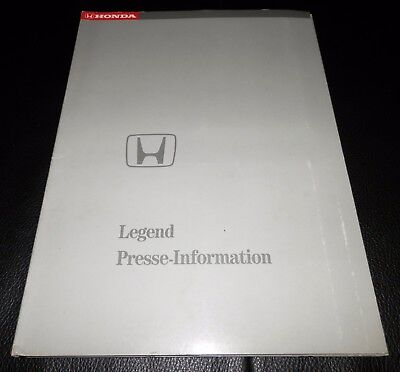 Alte Honda Legend Pressemappe / Press Info! Sehr rar! DEUTSCH