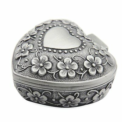 AVESON Classic Vintage Antique Heart Shape Jewelry Box Ring Small Trinket