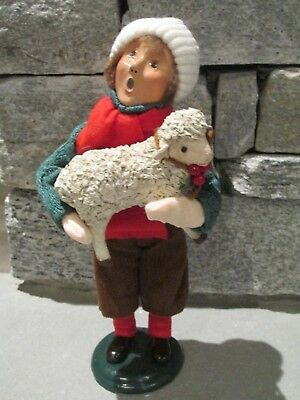 Byers Choice The Carolers 1996 Boy with Lamb Character Piece