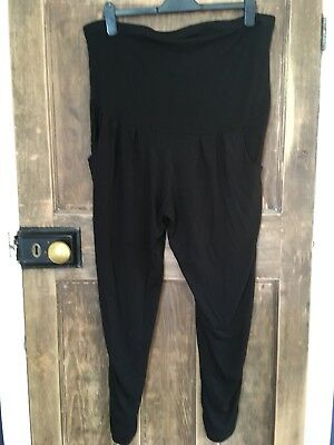 Dorothy Perkins - Black Over The Bump Joggers - Size 14