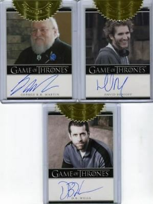 Game of Thrones Season 2 Incentive Martin Benioff Weiss Autograph Card Lot