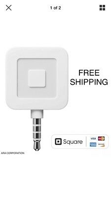 1 Brand New Square Credit Debit Card Reader for Apple iPhone and Android Devices