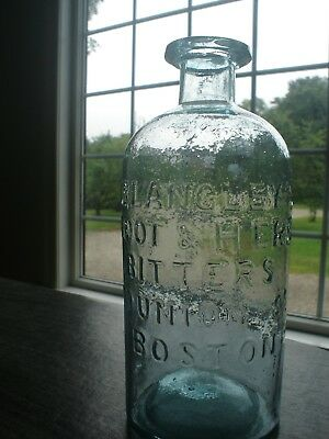 Dr. Langley's Root and Herb Bitters Boston, Crude, Nice Condition, Pontil Era