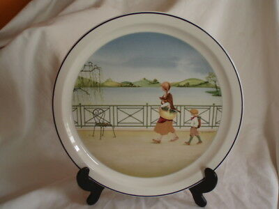 """LOVELY  VILLEROY & BOCH WALL PLATE ROMANTIC SEASONS NO.3 """"Autumn""""- S.Chenneviere"""