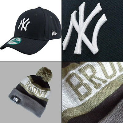 New York Yankees MLB New Era 9FORTY Adjustable Cap PLUS Bronx Knit Hat