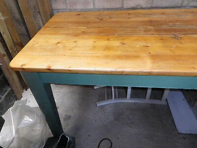 Barn find. Large old pine kitchen table. 75cm X 183cm