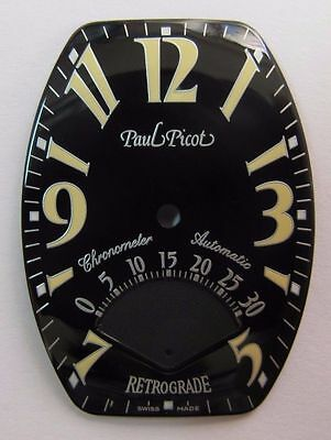 NEU Paul Picot  0773.S Chono Automatic RETROGRADE ZIFFERBLATT DIAL NOS
