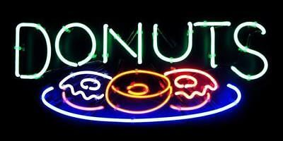 """New Donuts Bar Poster Beer Light Lamp Neon Sign 17"""""""