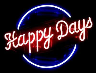 """New Happy Days Bar Poster Beer Light Lamp Neon Sign 17"""""""