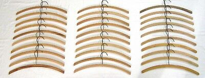 """30 Vintage Wood Hangers for Crochet or Crafting - Approximately 16"""" in width"""