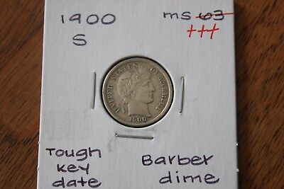 1900-S   Tough Key Date    Unc+++   Barber Dime