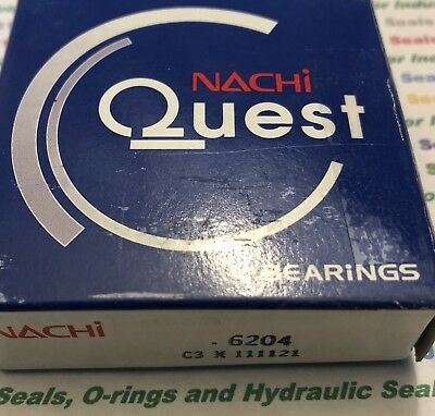 20X47X14 Nachi Open C3 Bearing 6204 6204-C3 Bearings