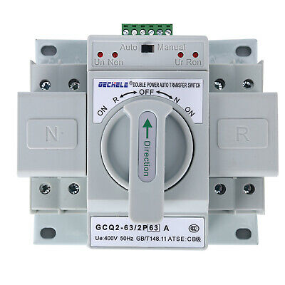 2P 63A 110V Self cast Dual Power Automatic Transfer Switch ATS 150×137×118mm