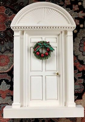 1992 Byers Choice Decorative Colonial Style Front Door Christmas Wreath Carole