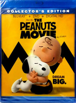 The Peanuts Movie (BluRay + DVD + Digital HD) Collector Edition , New, Sealed
