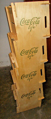 Original Coca Cola Regal Stecksystem Sperrholz Regal Coca Cola Life
