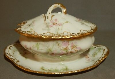 Antique Miniature Theodore Haviland Limoges France Decorated Soup Tureen No Res.