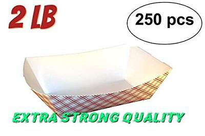 Capacity is 2 lb paperboard tray, Kraft Paper Food Trays, Great for Parties,