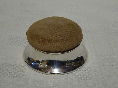 Sterling Silver Lidded Pin Cushion Trinket Box Birmingham 1919