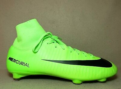 hot sale online ad323 e1b3d NIKE MERCURIAL VICTORY VI DF SG Electric Green/Black Football Boots UK 7/Eu  41
