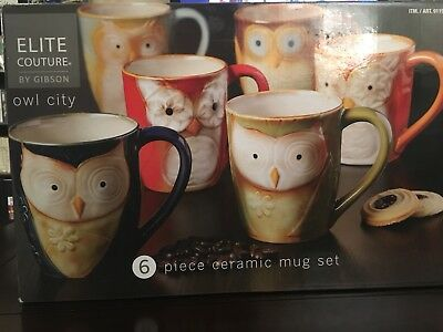 Set Of Owl mugs (6 Piece)