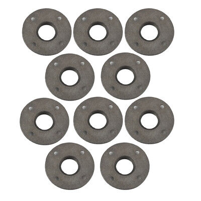 """1//2/"""" BLACK MALLEABLE IRON FLOOR FLANGE fitting pipe npt LOT OF 10"""