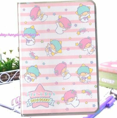 2019 Little Twin Stars Schedule Book Weekly Monthly Planner Organizer Date Diary