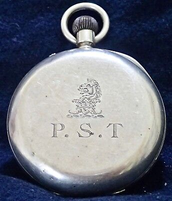 CHARLES SHAPLAND  Solid Silver Working English Lever Pocket Watch London 1892