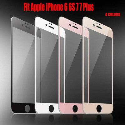 Fit Apple iPhone 6 6S 7 7 Plus Full Coverage Tempered Glass screen Protector BY