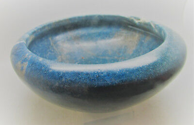 Ancient Egyptian Hand Crafted Lapis Lazuli Bowl