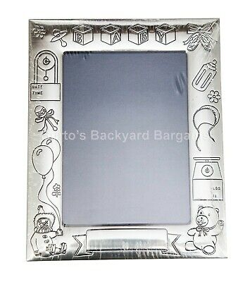 "Silver Plated Baby / Christening 10 x 15cm 6 x 4"" Picture / Photo Frame"