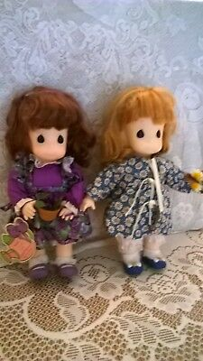 Two beautiful vintage Precious Moments dolls - Garden of Friends Colection